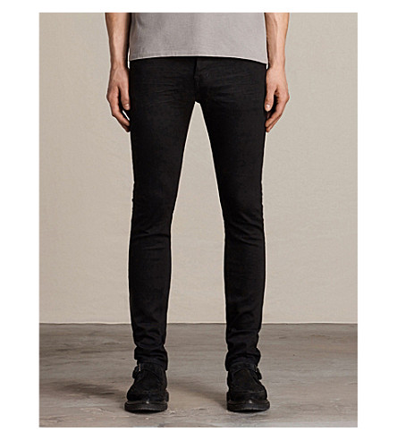 ALLSAINTS Crow Cigarette slim-fit skinny jeans (Jet+black