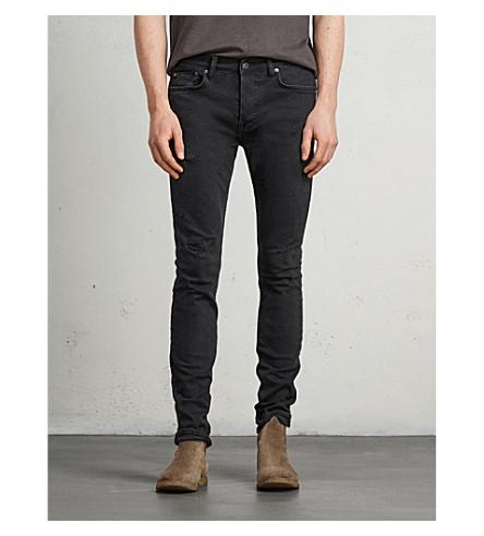 ALLSAINTS Bank skinny-fit tapered jeans (Black