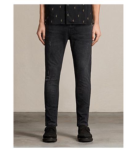 ALLSAINTS Raveline 香烟修身版型紧身牛仔裤 (黑色