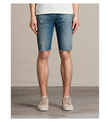 ALLSAINTS Ildham Switch slim-fit denim shorts (Indigo+blue