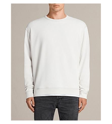 ALLSAINTS Putro crewneck cotton-jersey sweatshirt (Ivory+grey