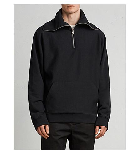 ALLSAINTS Gethian funnel neck cotton-fleece jumper (Black