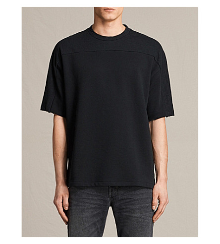 ALLSAINTS Harlston oversized cotton T-shirt (Jet+black