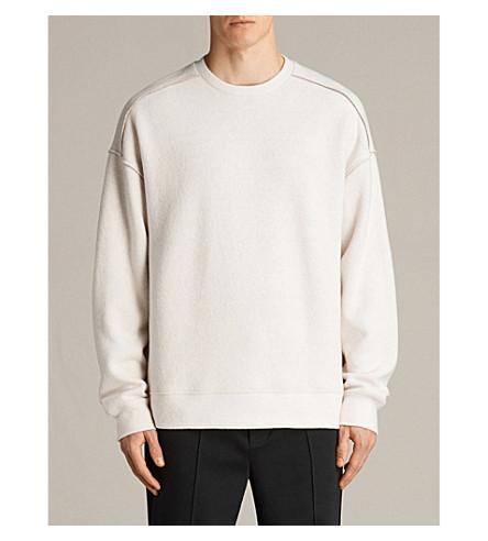 ALLSAINTS Cortel marl-pattern cotton-blend sweatshirt (Chalk/taupe