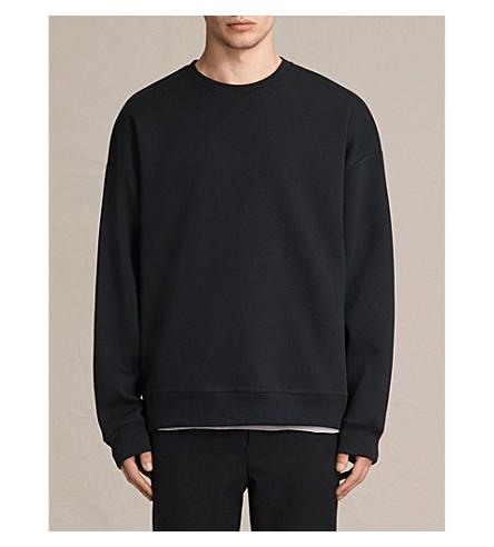 ALLSAINTS Hibern neoprene sweatshirt (Jet+black