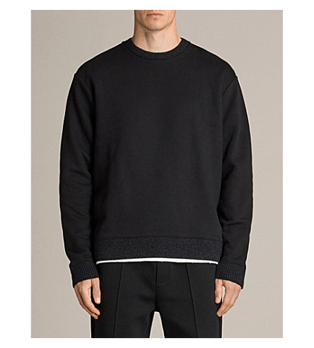 ALLSAINTS Elders jersey sweatshirt (Jet+black