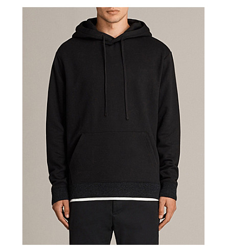 ALLSAINTS Elders knitted hoody (Black