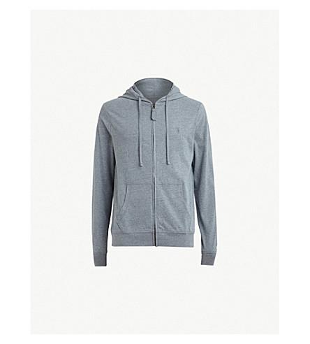 ALLSAINTS Brace cotton-jersey hoody (Arctic+blue+ma