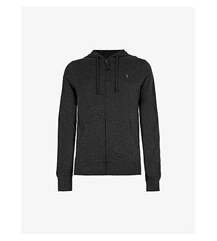 ALLSAINTS Brace cotton-jersey hoody (Charcoal+marl