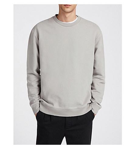 ALLSAINTS Vigo cotton-jersey sweatshirt Land grey Cheap Pay With Paypal Discount For Cheap On Hot Sale Nicekicks Cheap Price D6vbbV