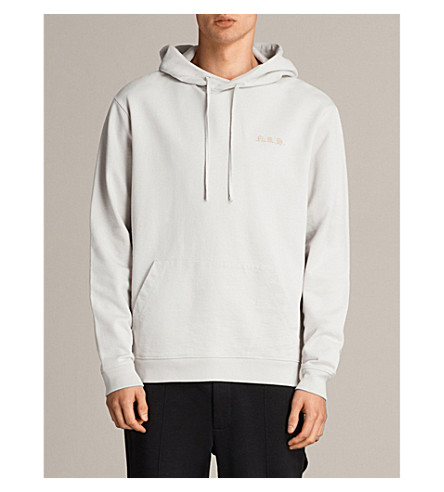 ALLSAINTS Nothing Really Happens Meyer cotton hoody (Ivory+grey