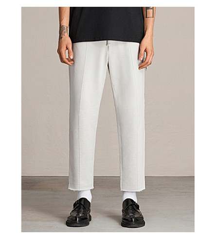 ALLSAINTS Nothing Really Happens Arvid cotton-fleece trousers (Ivory+grey