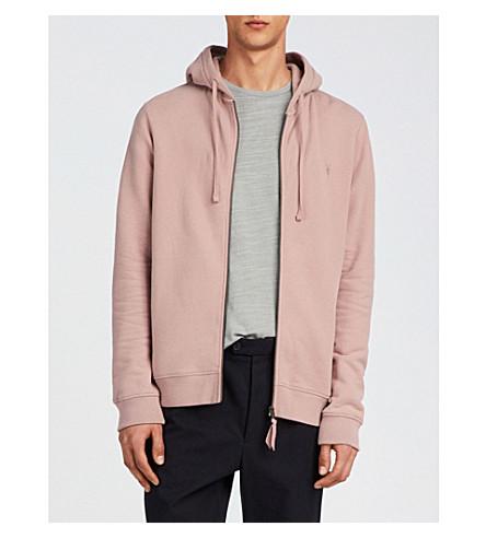 ALLSAINTS Raven slim-fit cotton-fleece hoody (Dusk+pink