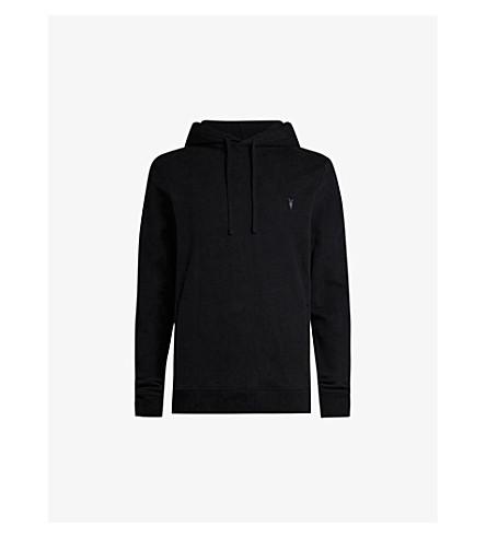 ALLSAINTS Raven cotton-fleece hoody (Black