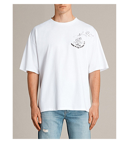 ALLSAINTS Learn cotton-jersey T-shirt (Optic+white