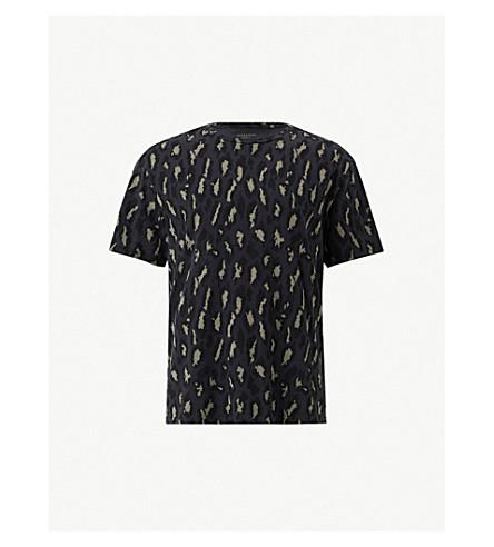 ALLSAINTS Catamount cotton-jersey T-shirt (Vintage black