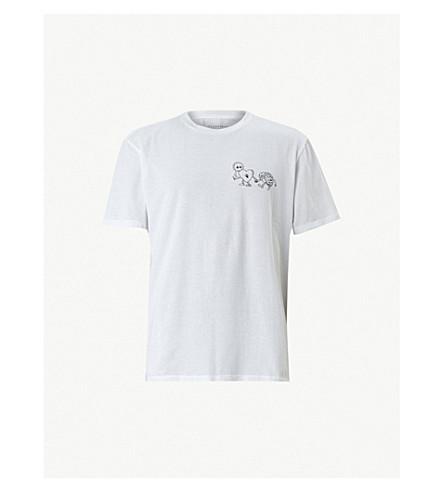 ALLSAINTS Peeps screen printed cotton-jersey T-shirt (Optic white