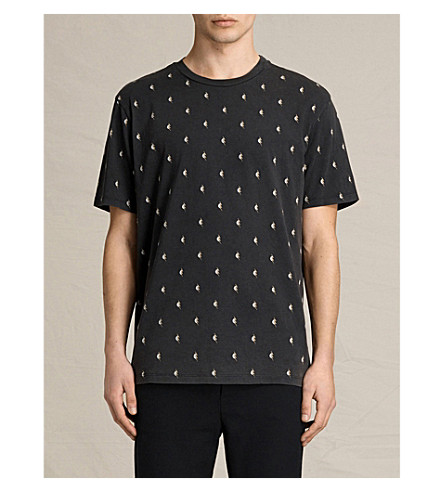 ALLSAINTS Lightning cotton-jersey T-shirt (Black