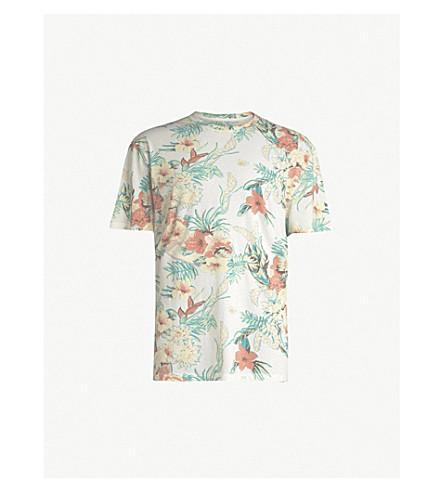 ALLSAINTS 女妖平纹针织棉热带印刷 T 恤 (粉笔