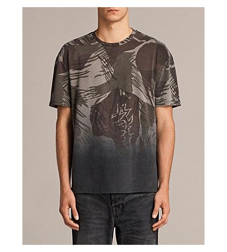 ALLSAINTS Contour camouflage-print cotton T-shirt (Black/khaki