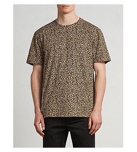 ALLSAINTS Apex leopard-print cotton-jersey T-shirt (Light+brown