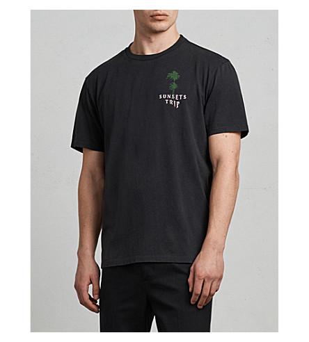 ALLSAINTS Trip printed cotton-jersey T-shirt (Black