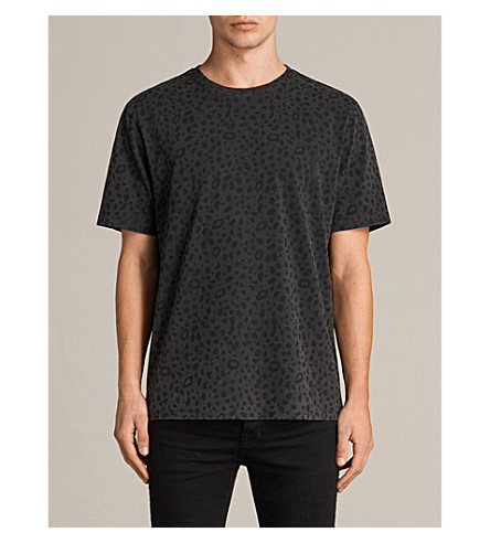 ALLSAINTS Animal-print cotton-jersey T-shirt (Vintage+black
