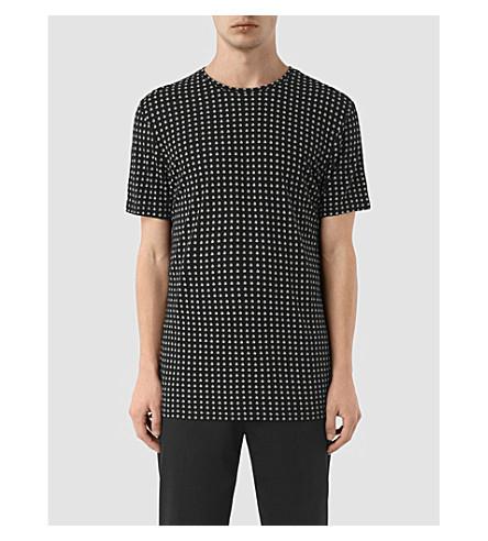 ALLSAINTS Teardrop-print jersey T-shirt (Jet+black