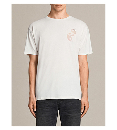 ALLSAINTS Gardyin crewneck printed T-shirt (Chalk+white