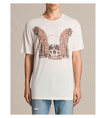 ALLSAINTS Cheetahs cotton-jersey T-shirt (Chalk+white