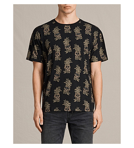 ALLSAINTS Fineapples printed cotton T-shirt (Jet+black