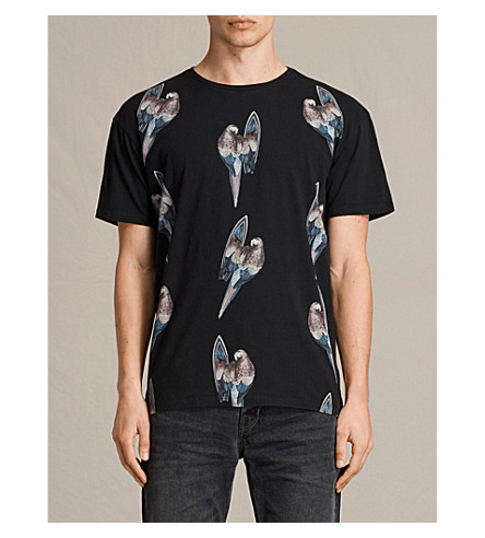 ALLSAINTS Surfin Bird cotton-jersey T-shirt (Black
