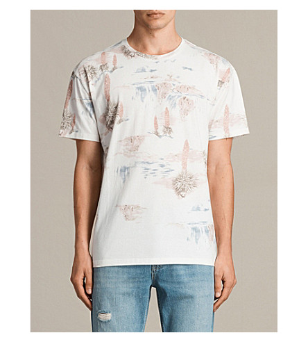 ALLSAINTS Dreamscape cotton-jersey T-shirt (Chalk+white