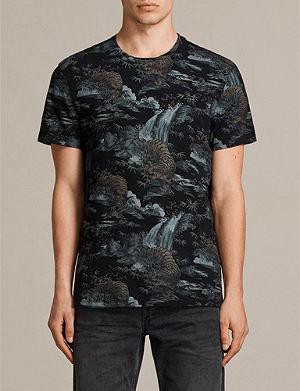 ALLSAINTS Tiagaa cotton and linen-blend T-shirt