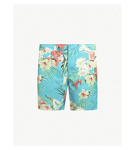 ALLSAINTS 热带印花游泳短裤 (蓝色
