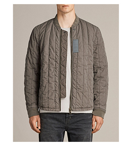 ALLSAINTS Dupont cotton bomber jacket (Khaki+green