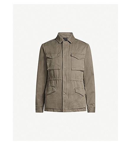 ALLSAINTS Cote cotton-twill field jacket (Dusty+olive