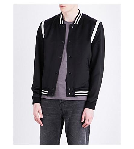 ALLSAINTS Matsu satin bomber jacket (Black/white
