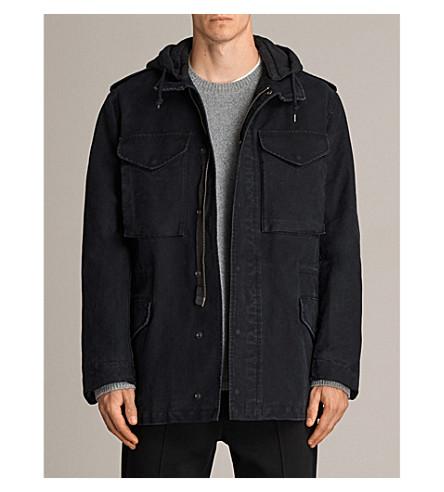 ALLSAINTS Corp detachable-hood cotton jacket (Black