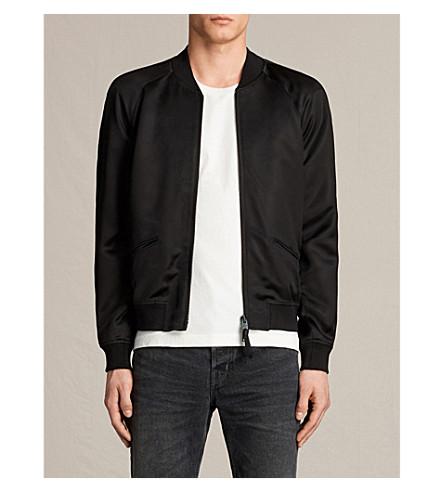 ALLSAINTS Yuki satin bomber jacket (Black