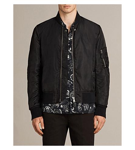 ALLSAINTS Myrtle shell bomber jacket (Black