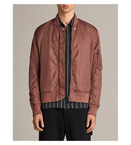 ALLSAINTS Nothing Really Happens Sierra shell bomber jacket (Ruby+red