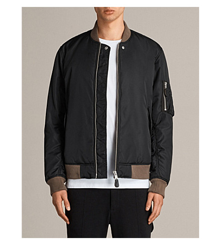 ALLSAINTS Nothing Really Happens Ventura shell bomber jacket (Black