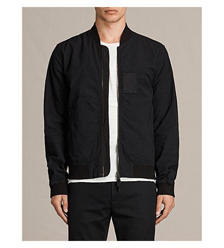 ALLSAINTS Cray seersucker cotton bomber jacket (Black