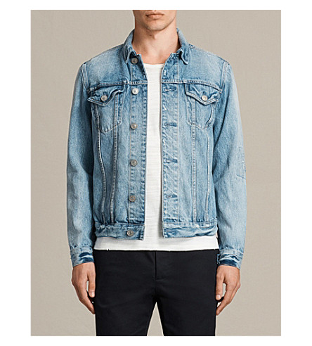 ALLSAINTS Dustout faded denim jacket (Indigo+blue