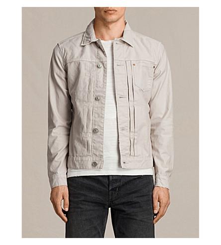 ALLSAINTS Singel denim jacket (Khaki