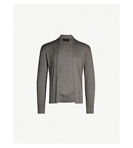 ALLSAINTS Mode open-front merino-wool cardigan (Bark+green+mar