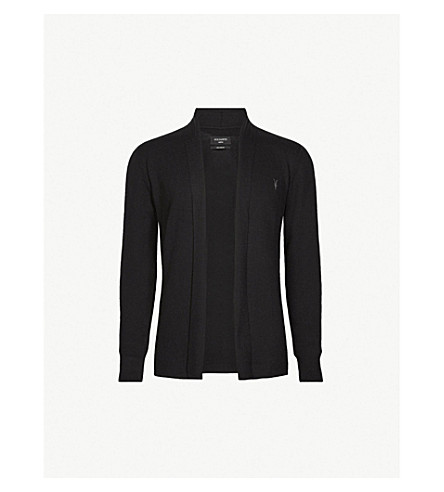 ALLSAINTS Mode open-front merino-wool cardigan (Black