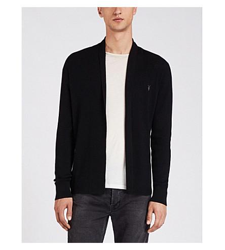 ALLSAINTS Mode open-front merino-wool cardigan (Black