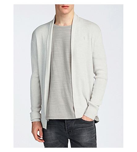 ALLSAINTS Mode open-front merino-wool cardigan (Chalk+white